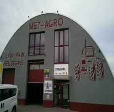 Osvetlenie regálov v sklade MET-AGRO, Trebatice